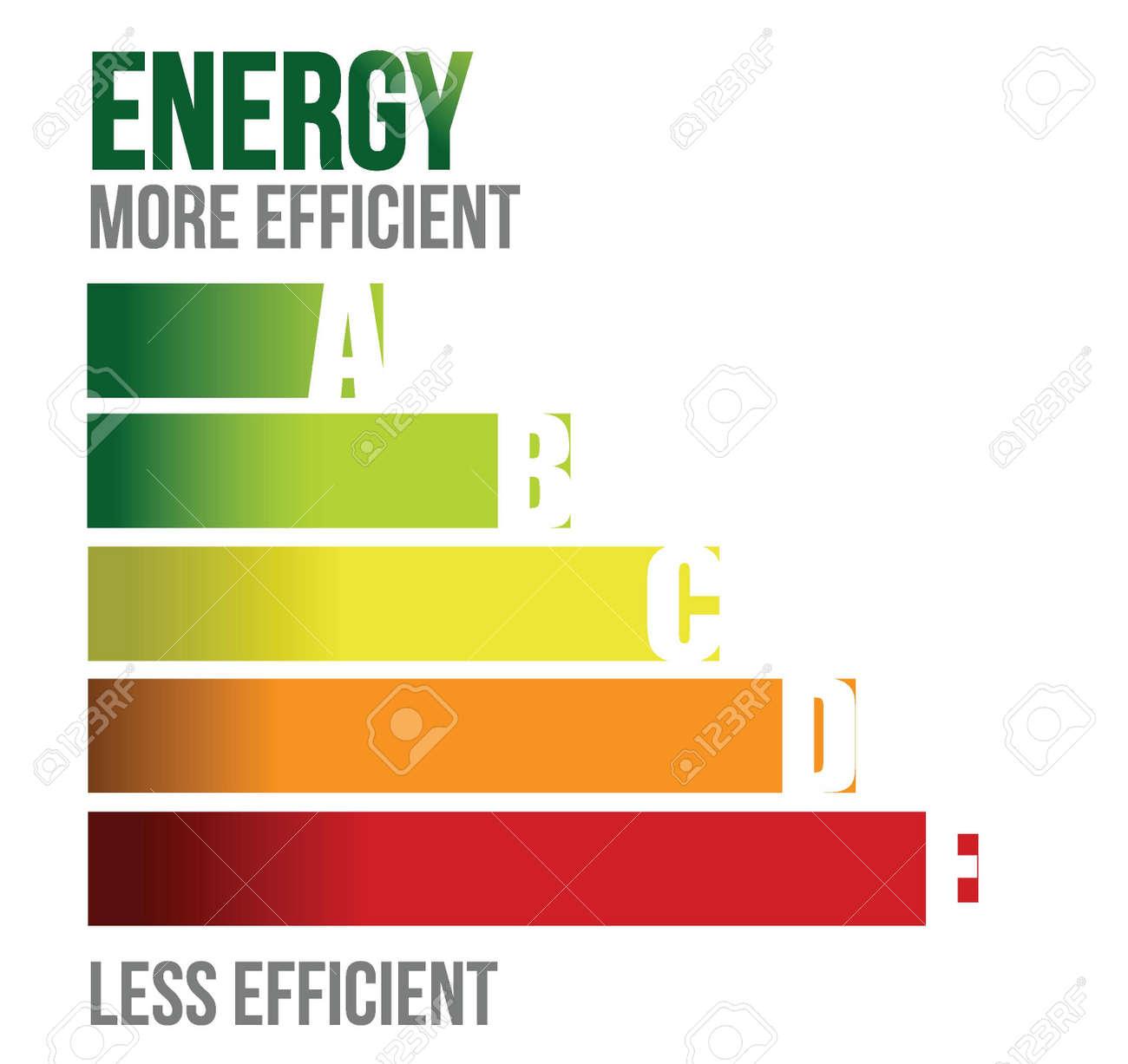 Energy efficient business graph illustration design over white Stock Vector - 15829619