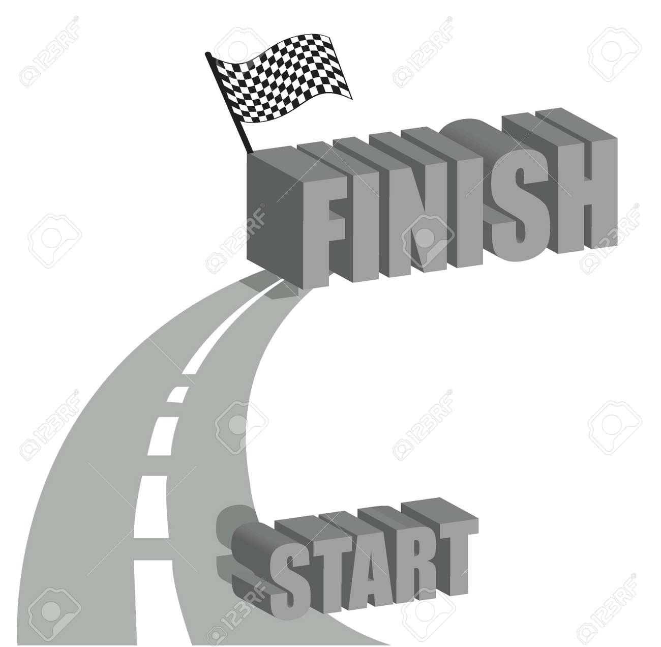 Start to finish road illustration design over white Stock Vector - 15829624