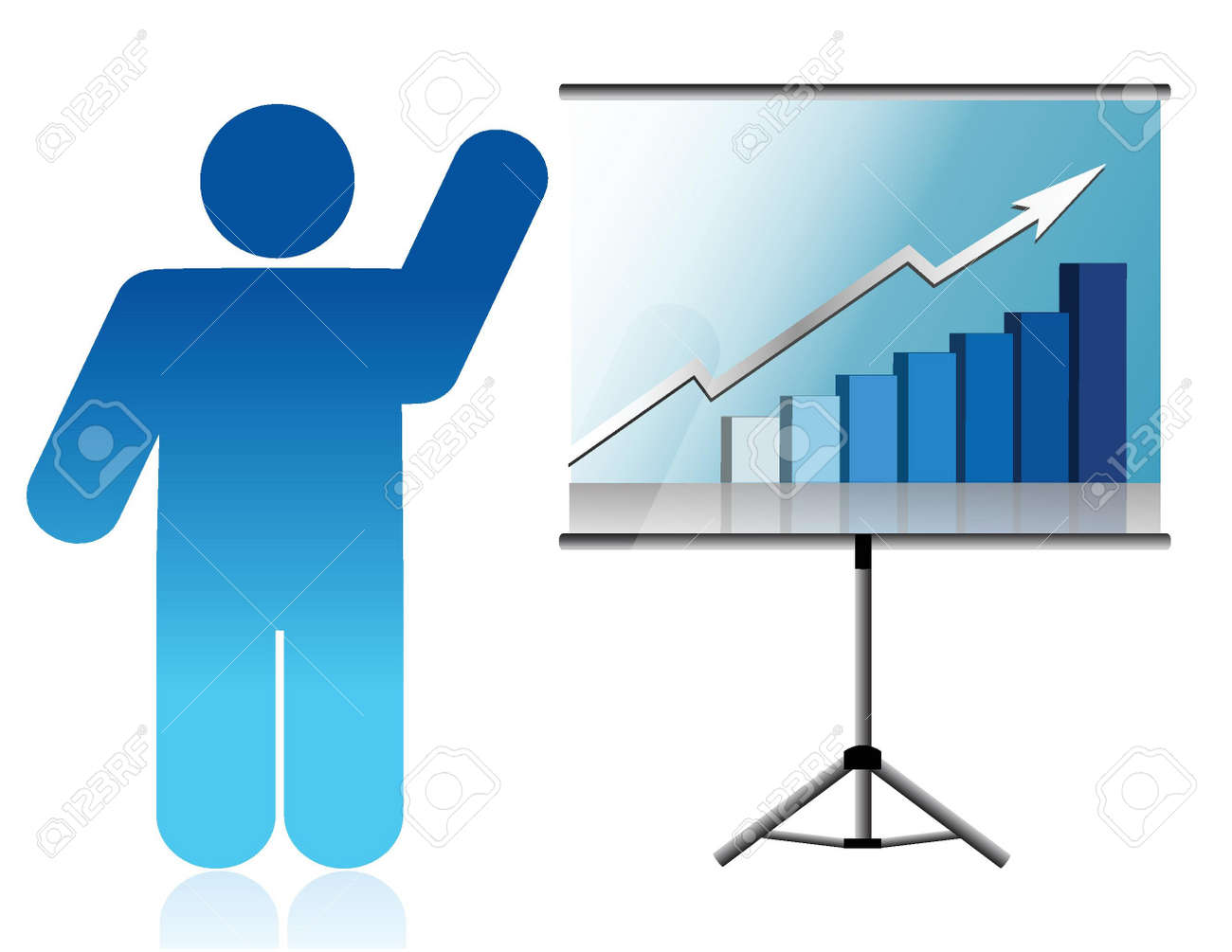 presentation under way illustration design over white background Stock Vector - 15829617