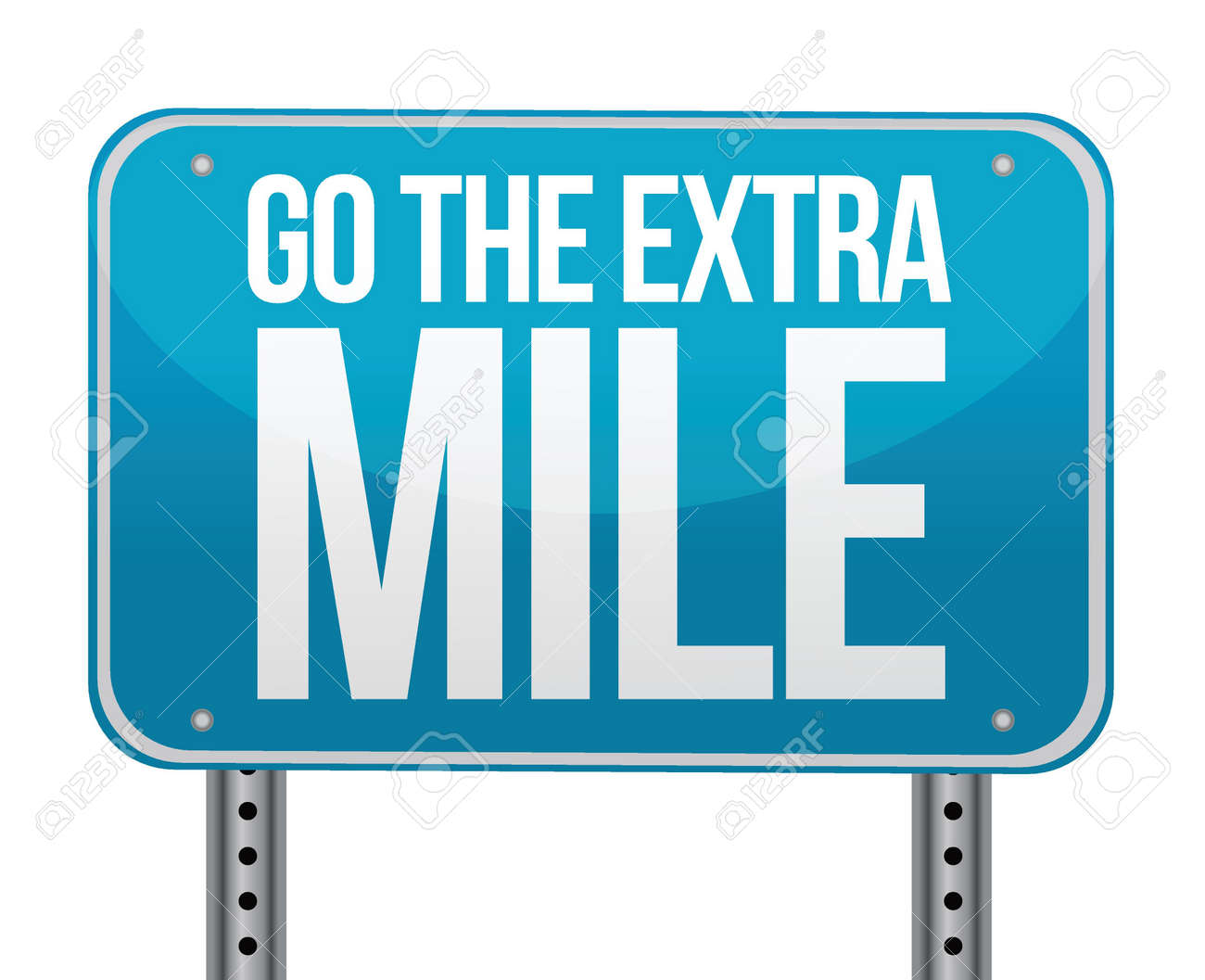 go the extra mile illustration design over white Stock Vector - 15868858