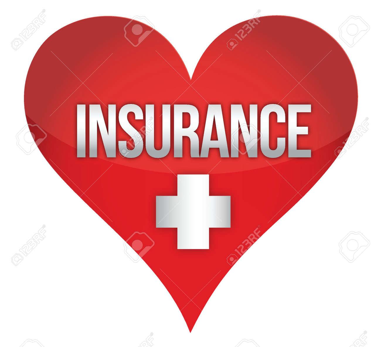 heart insurence illustration design over white background Stock Vector - 15869190