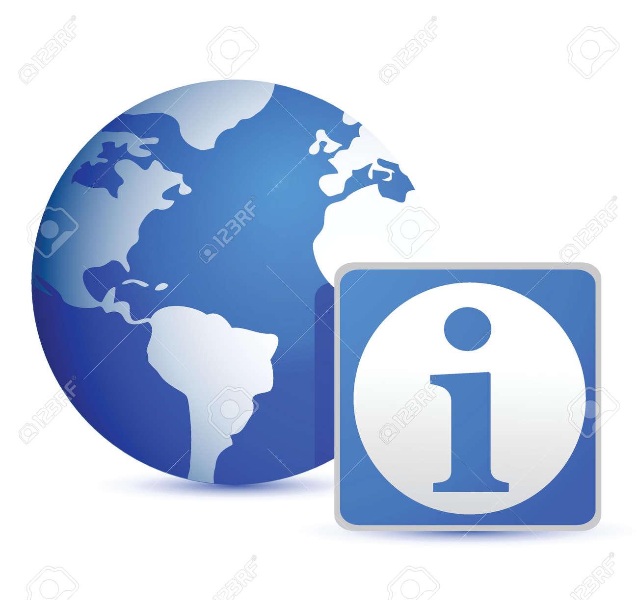 globe info illustration design over white background Stock Vector - 15925480