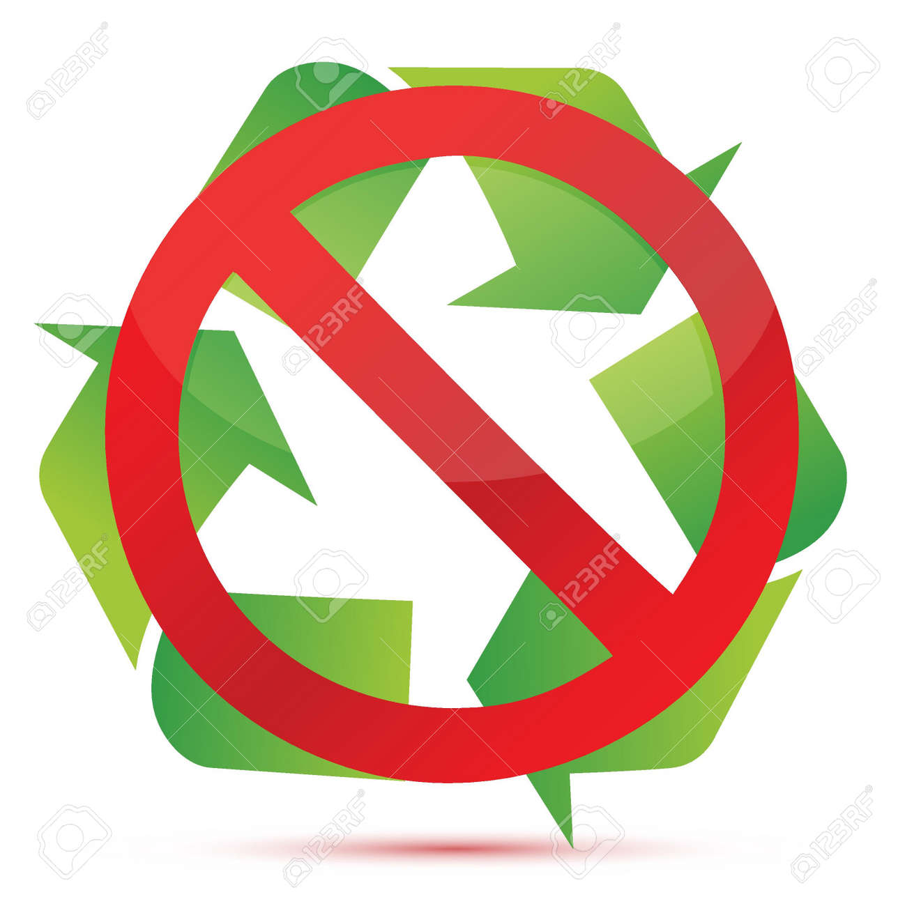 Do Not Recycle Illustration Design Over White Background Royalty