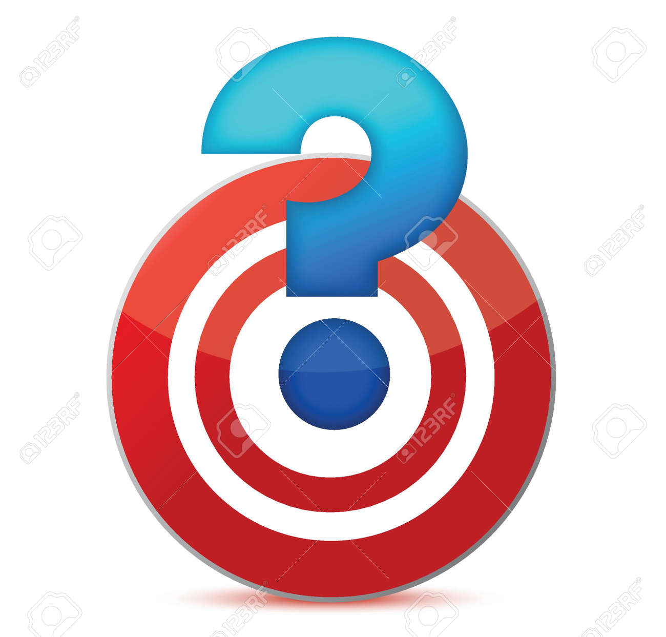 target with question mark illustration design over white Stock Vector - 15925469