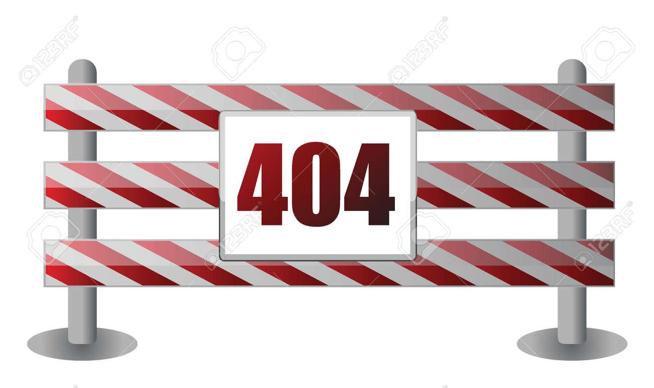 404 barrier illustration design over white background Stock Vector - 15925506