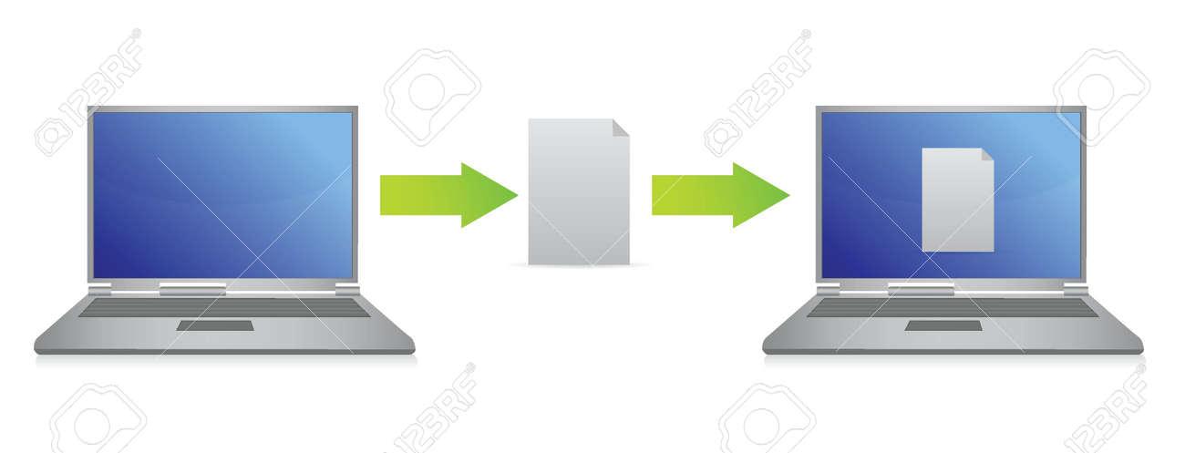 file transfer illustration design over white background Stock Vector - 15988078