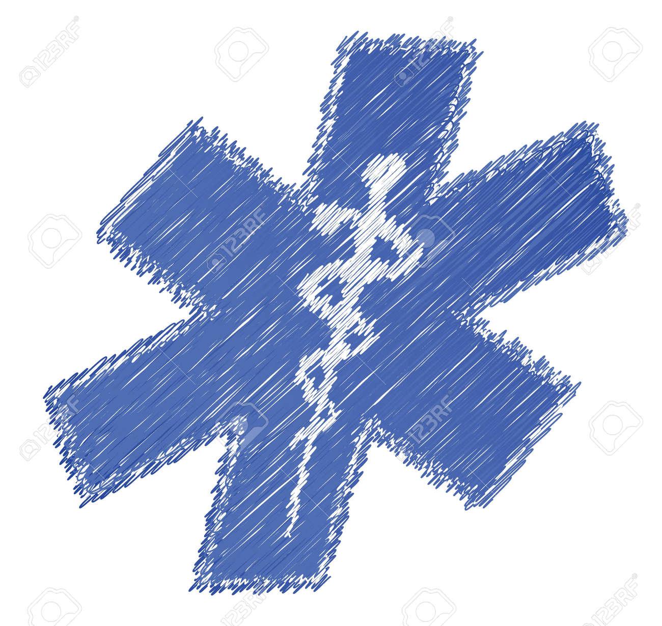 scribble medical symbol illustration design over white background Stock Vector - 15987951