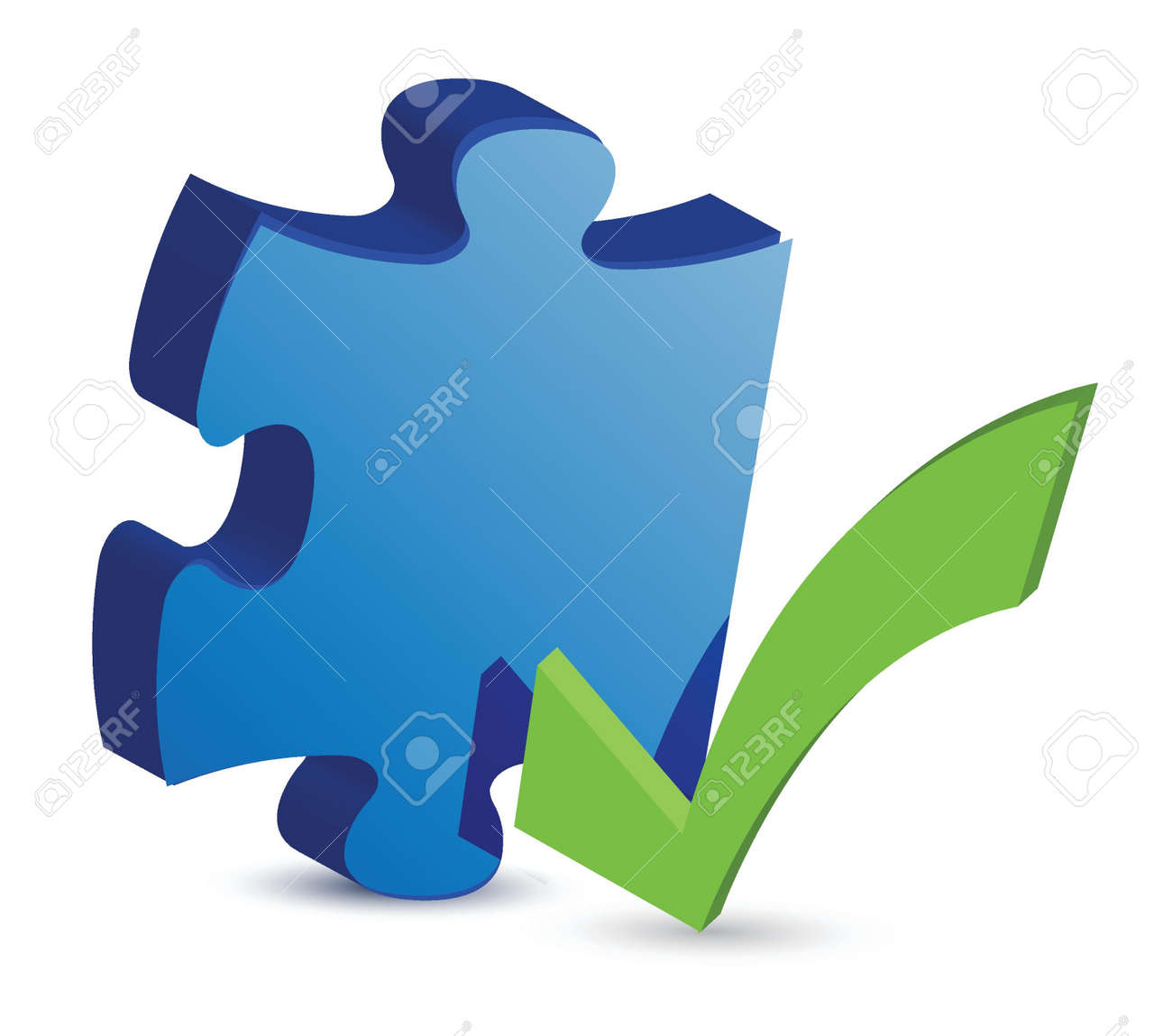 puzzle piece with a check mark illustration design Stock Vector - 16035398