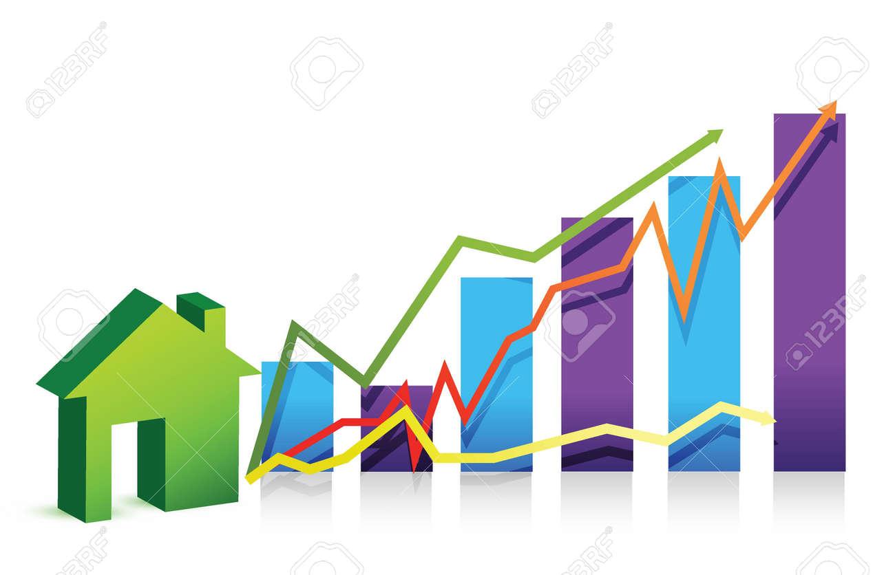 house graph illustration over white background design Stock Vector - 16117621