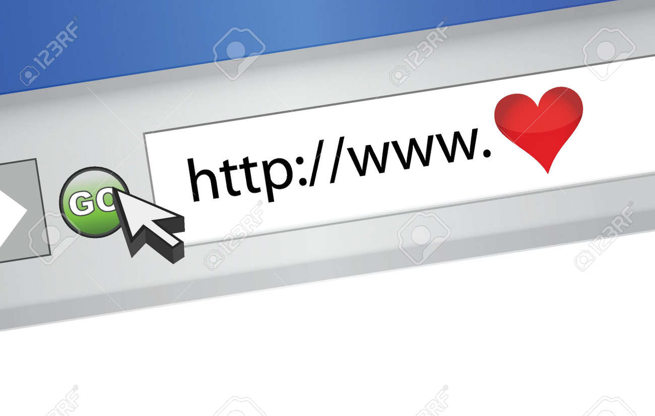 love internet browser illustration design concept graphic Stock Vector - 16190625