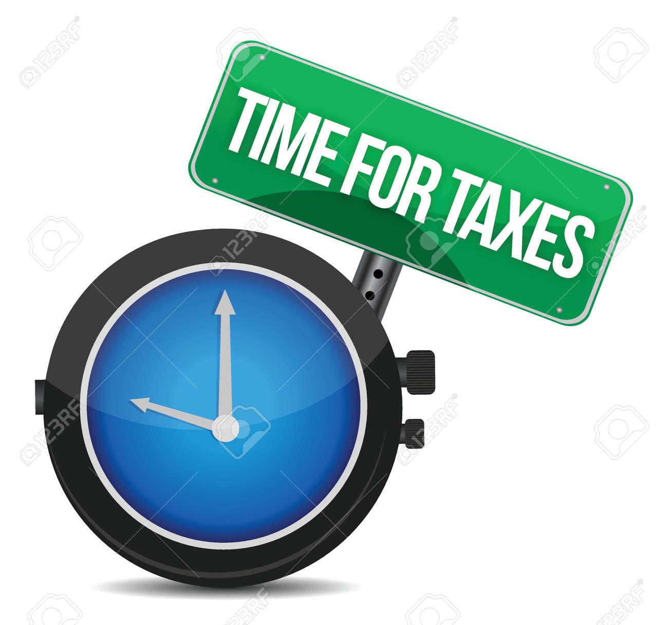 time for taxes illustration design over white Stock Vector - 16190833