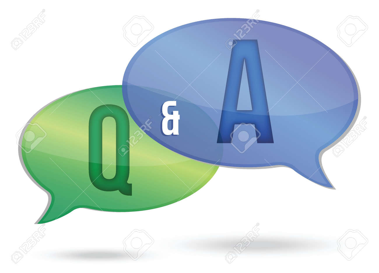 question and answer illustration design over white Stock Vector - 16259154