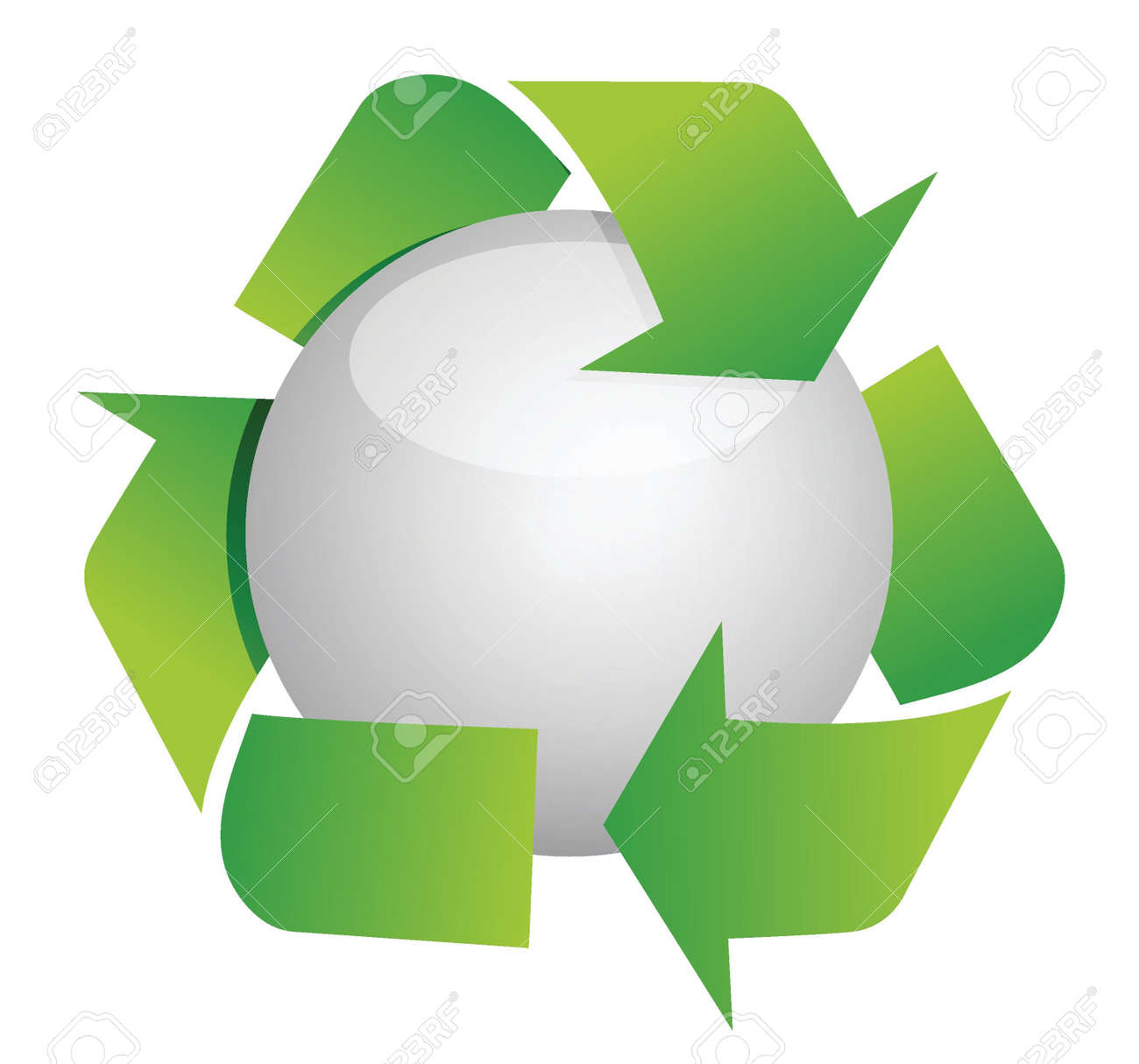 recycle sphere illustration design over white Stock Vector - 16259162