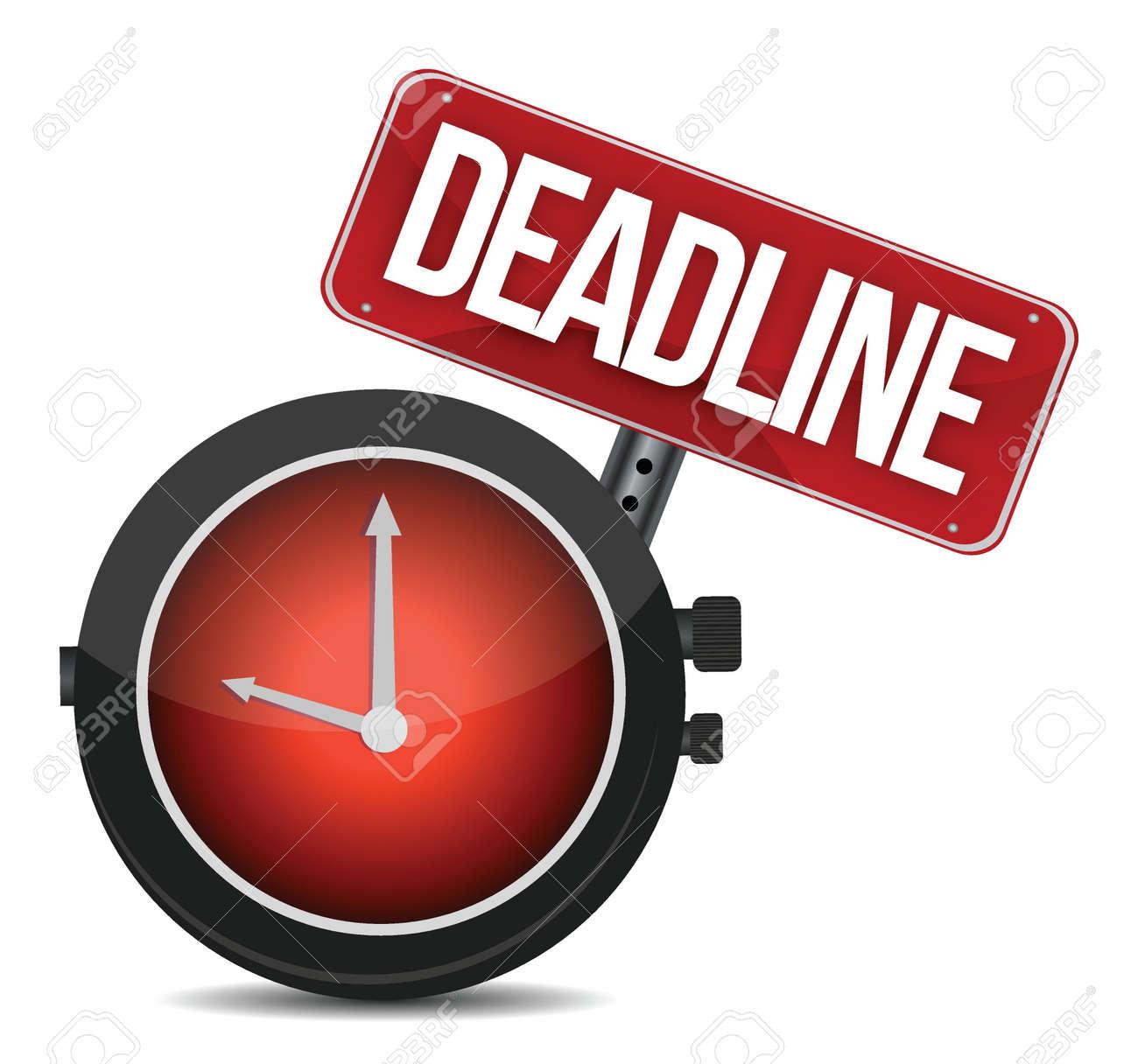 deadline watch sign illustration design over white Stock Vector - 16259239