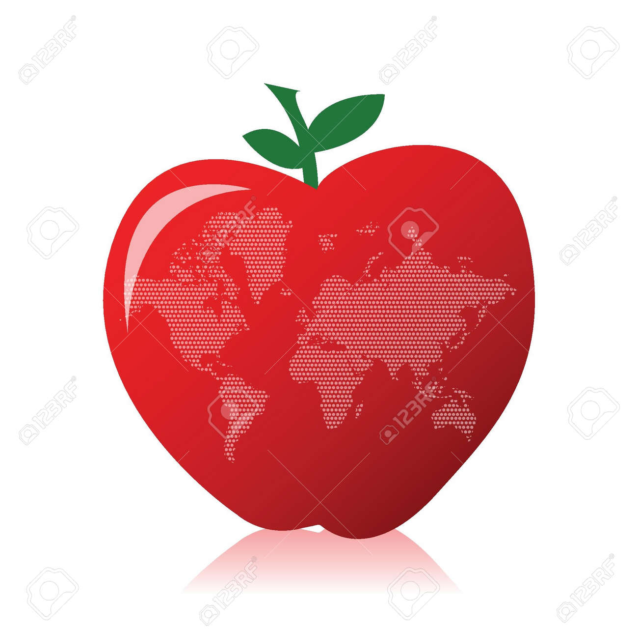 Apple and world map illustration design over a white background apple and world map illustration design over a white background stock vector 16329776 gumiabroncs Images