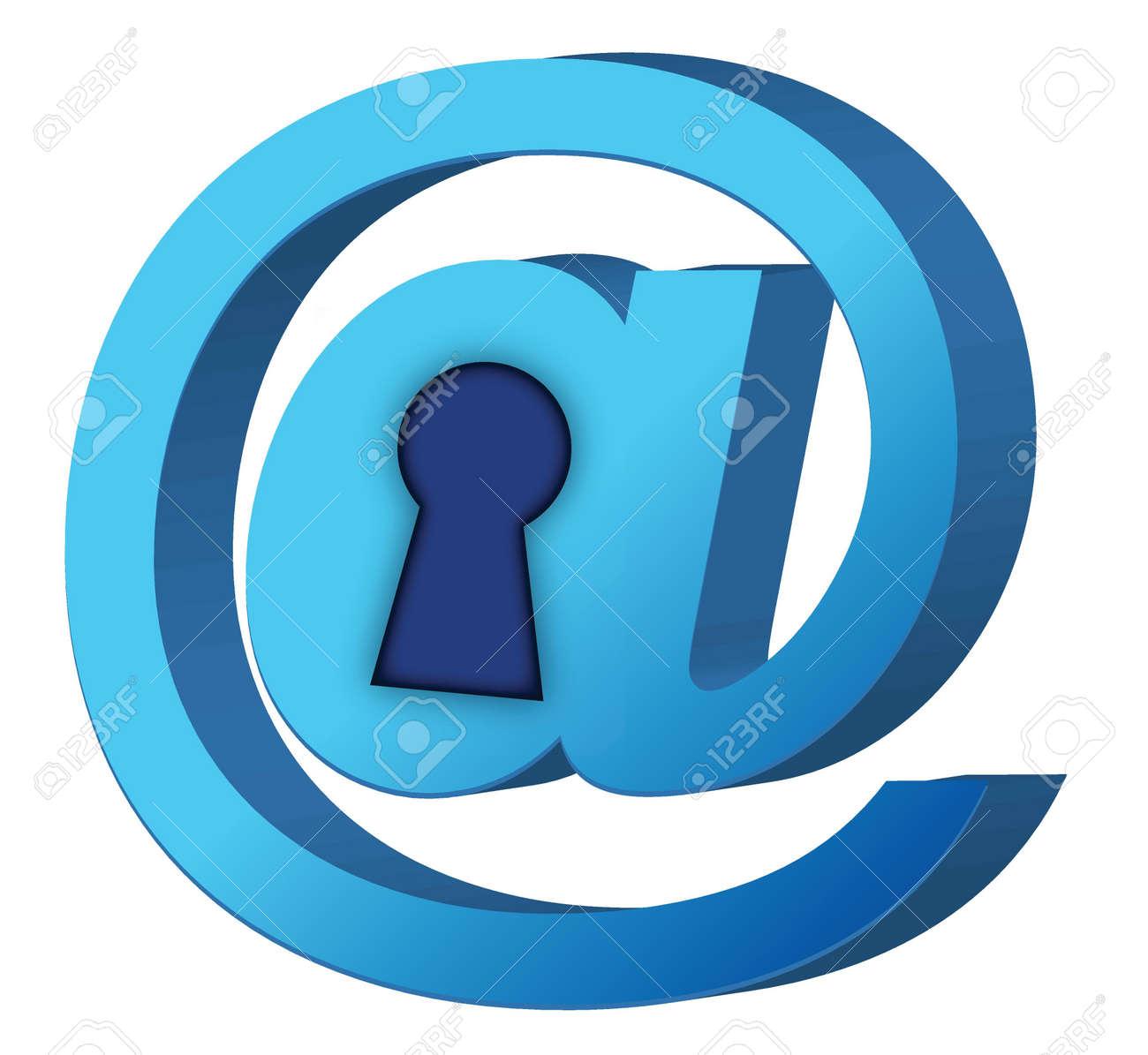 att lock sign over a white background design Stock Vector - 16329814