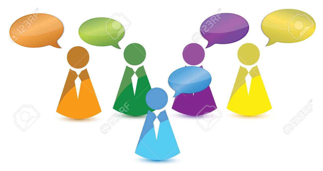 people talking illustration design over a white background Stock Vector - 16367464