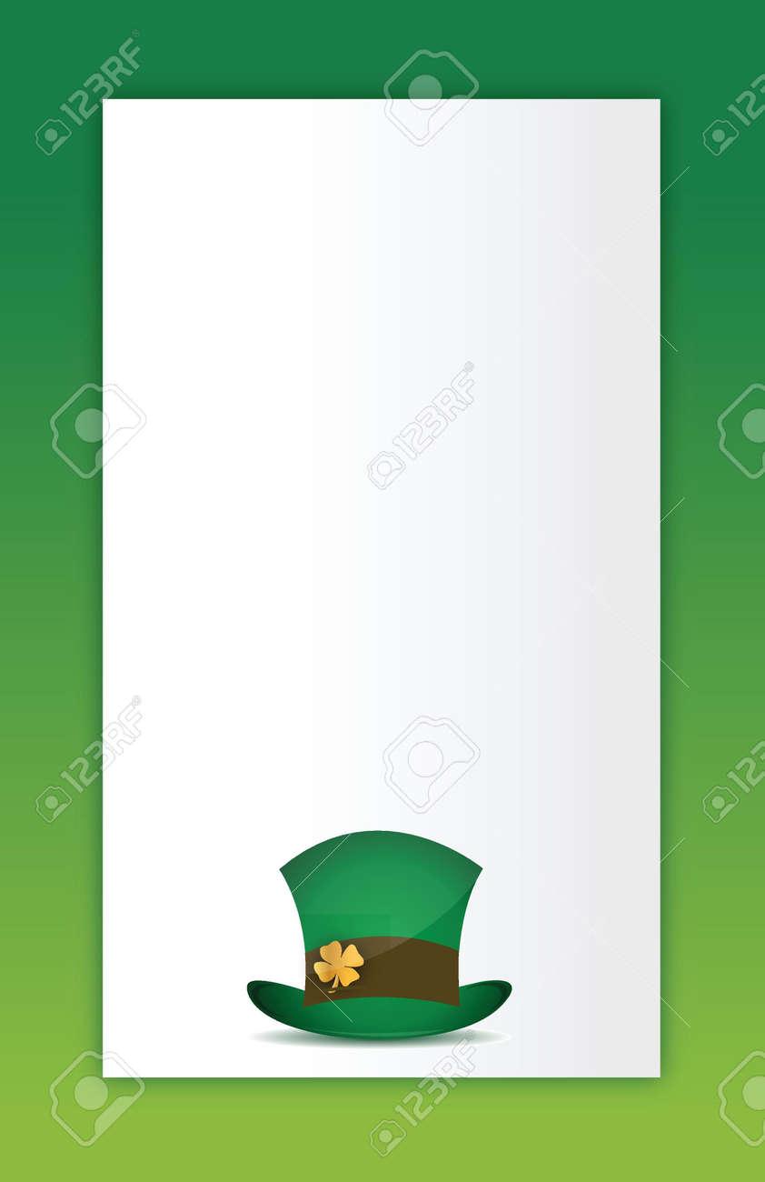 saint patricks hat illustration design card background Stock Vector - 16380108
