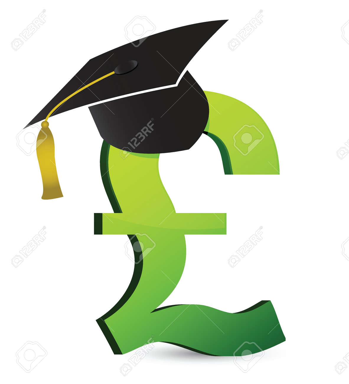 education cost in pound's illustration design over a white background Stock Vector - 16437833