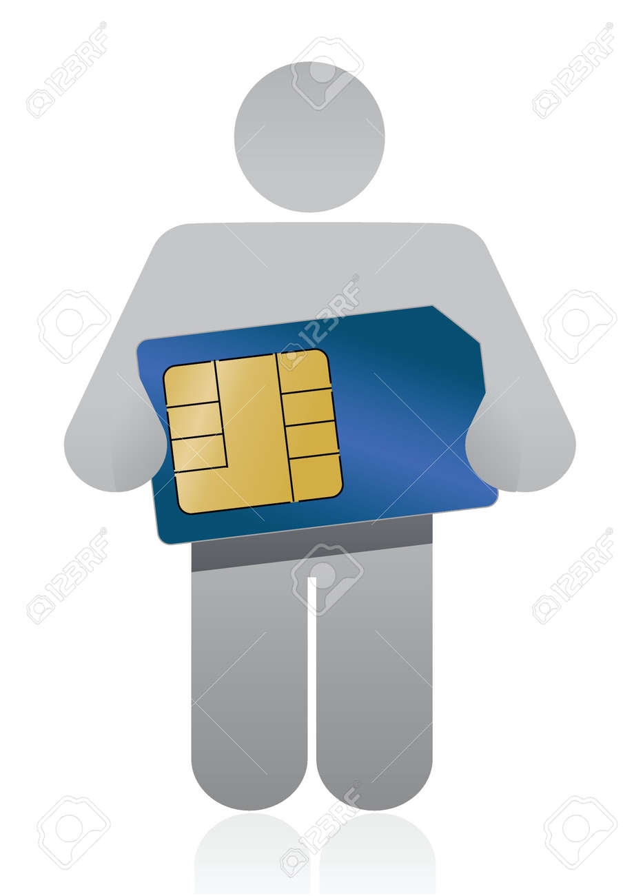 icon holding a sim card illustration design over a white background Stock Vector - 16571411