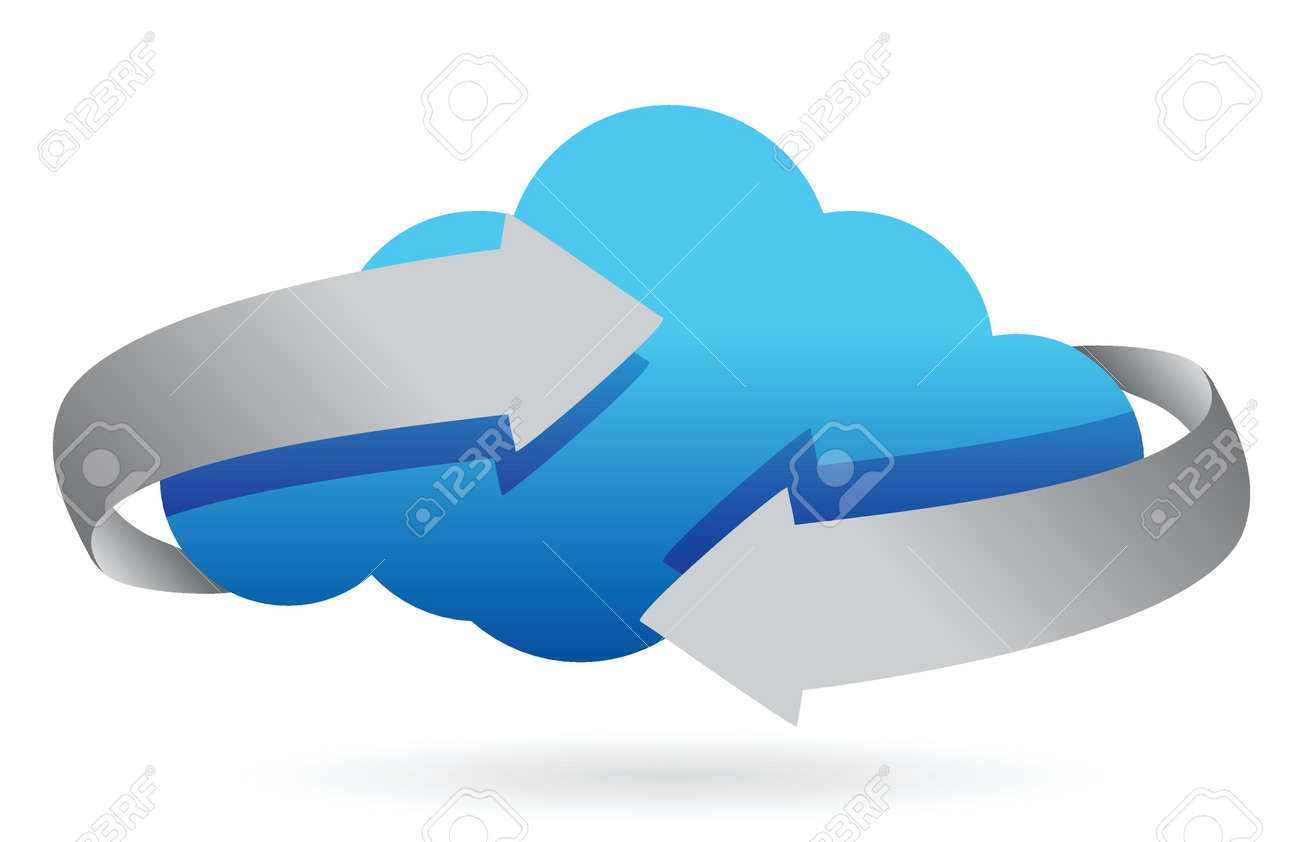 cloud computing on the move concept illustration design Stock Vector - 16583179