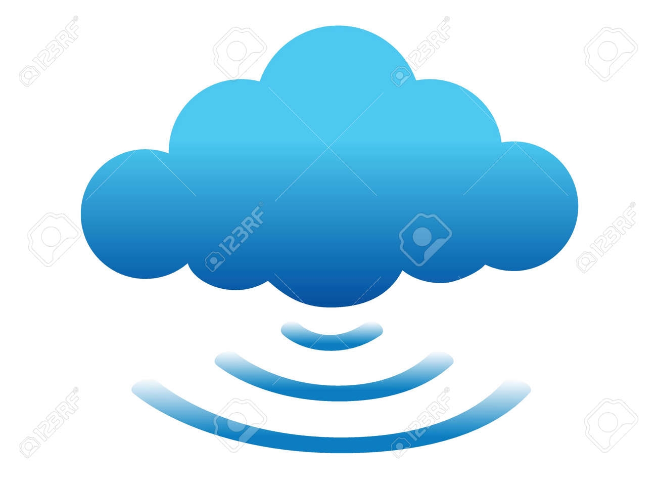 cloud computing connected illustration design over white Stock Vector - 16583202