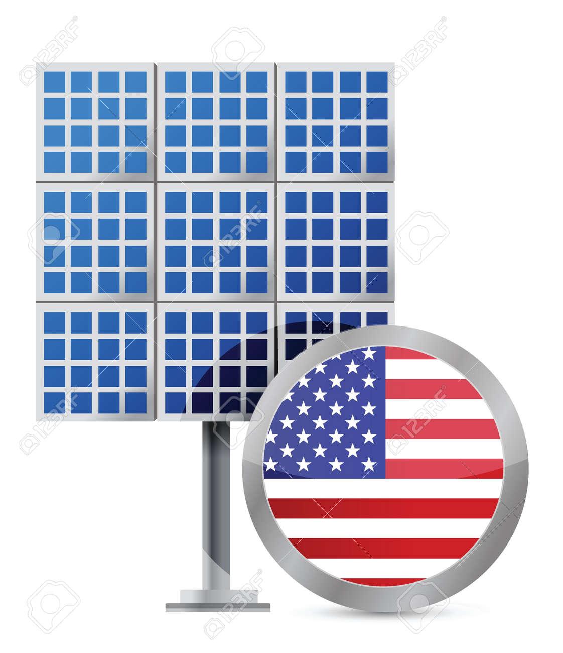 US solar panel illustration design over white Stock Vector - 16600941
