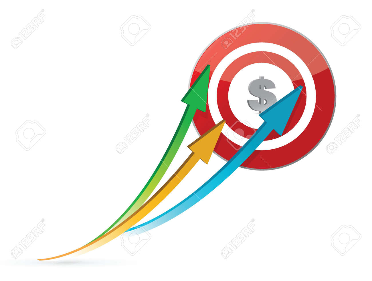 arrows pointing target illustration design over white Stock Vector - 16600919