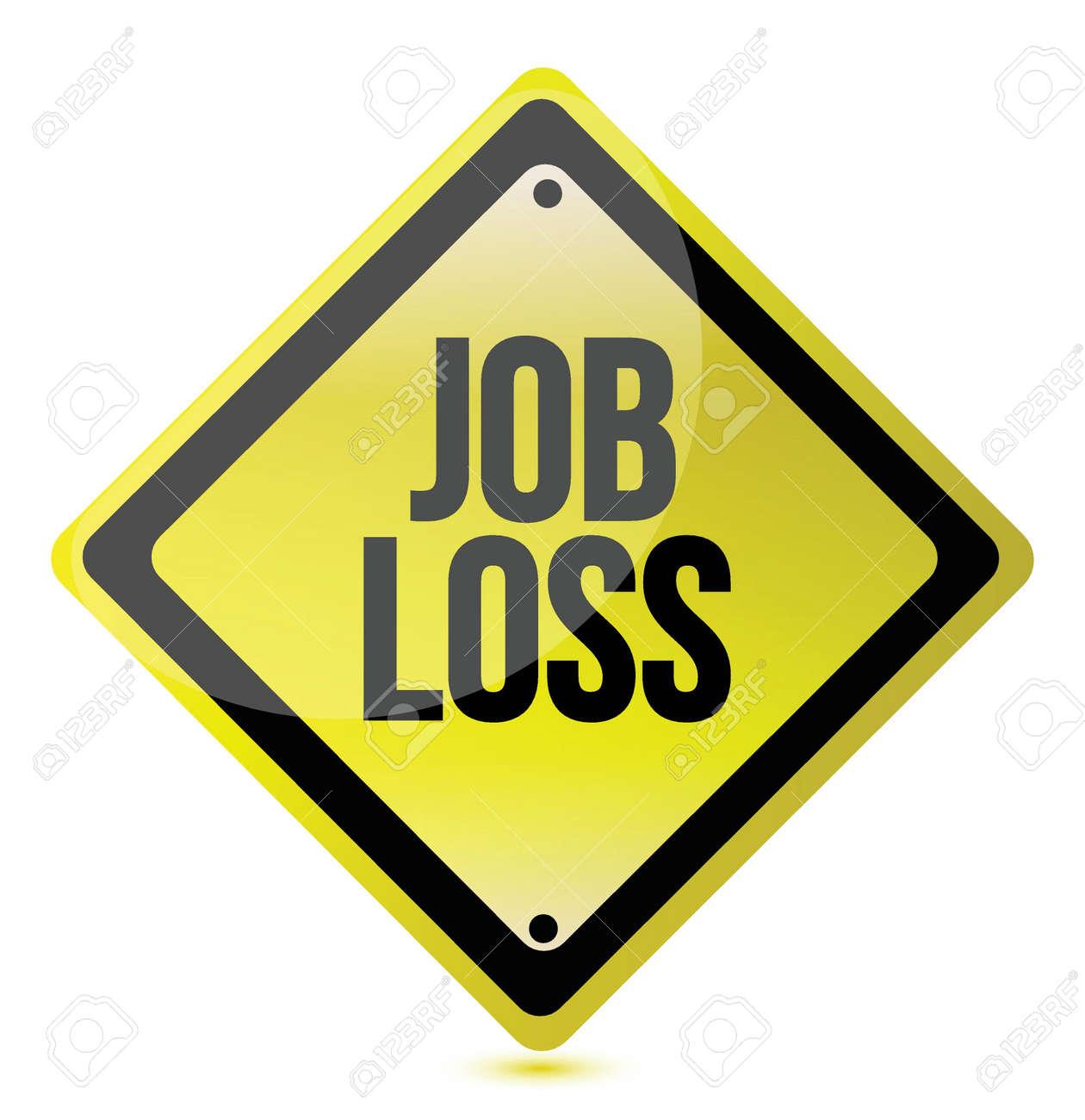 job loss sign illustration design over a white background Stock Vector - 16617328