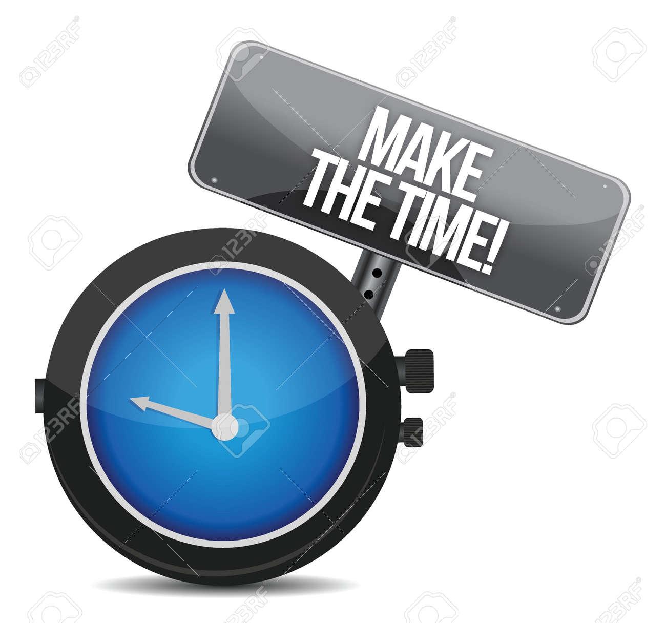 make time message concept illustration design over white Stock Vector - 16617340