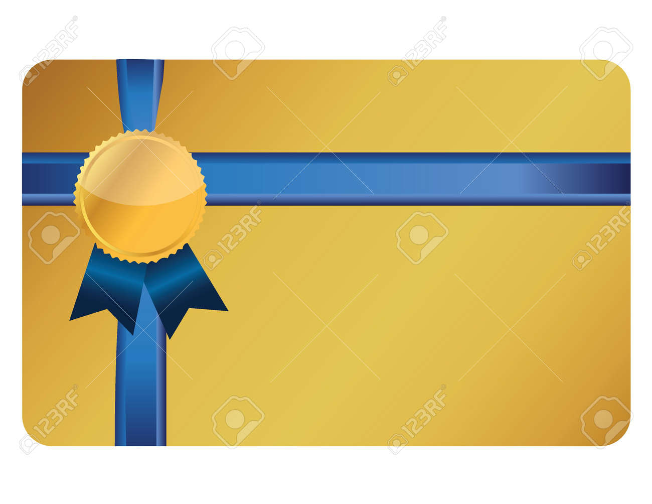 gift card banner and ribbon illustration design over a white background Stock Vector - 16667114
