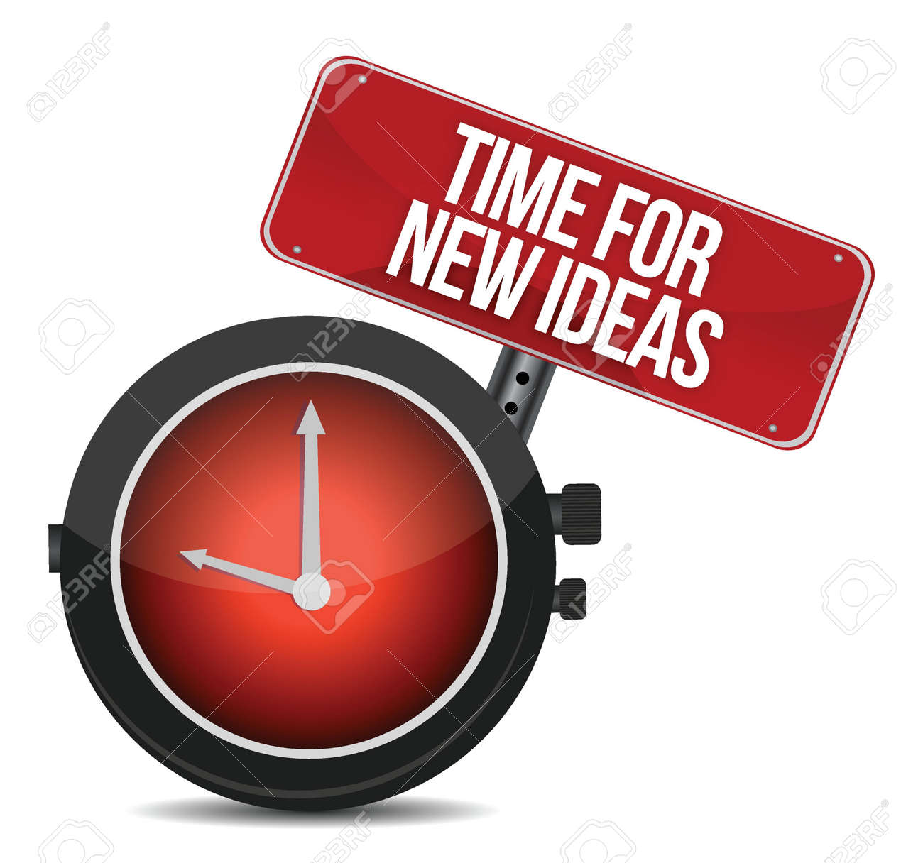 time for new ideas concept illustration design over white Stock Vector - 16692145