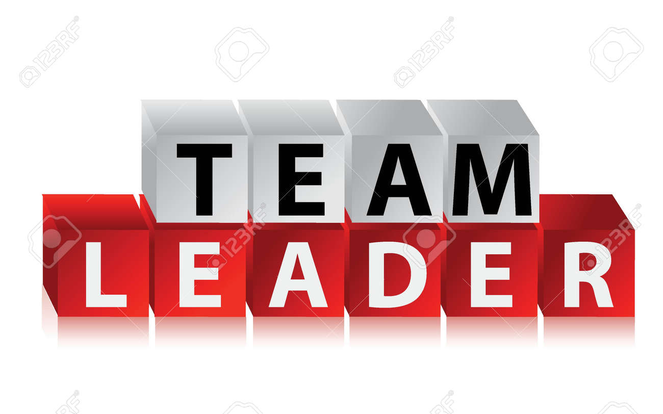 Team Leader - text with red cubes illustration design Stock Vector - 16836765