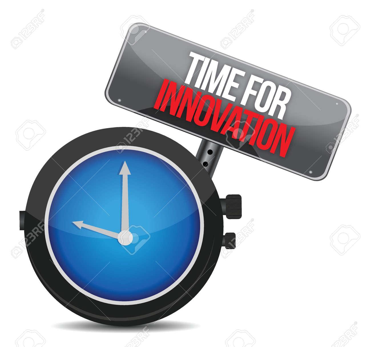 time for innovations concept illustration design over white Stock Vector - 16838653