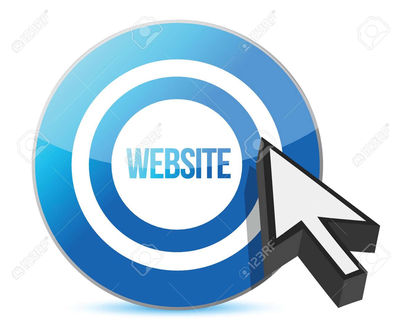 Website target illustration design over a white background Stock Vector - 16836752