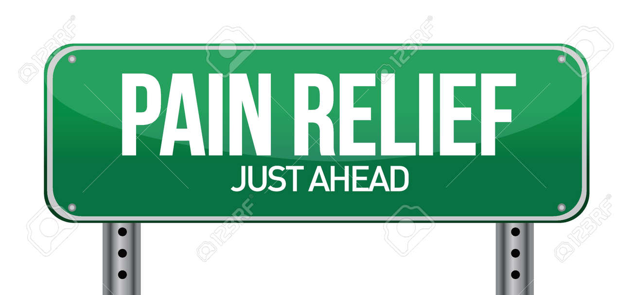 road traffic sign with a pain relief concept illustration design Stock Vector - 16979873