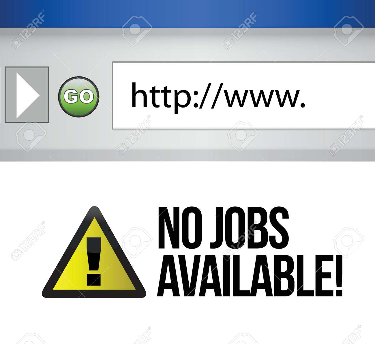 no jobs available illustration design on a computer browser Stock Vector - 17032352