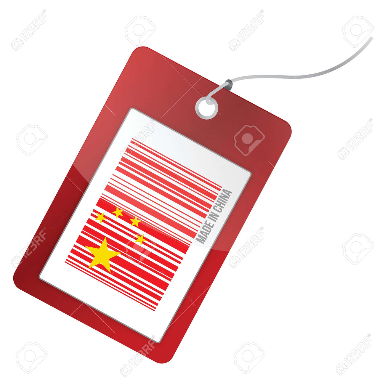 made in china tag barcode illustration design graphic Stock Vector - 17058204