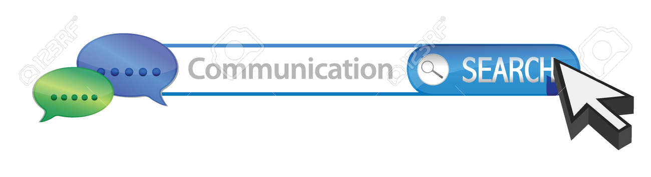 Search for communication illustration design over a white background Stock Vector - 17081885