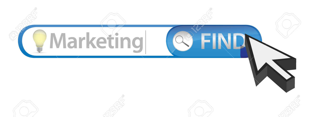 Marketing search illustration design over a white background Stock Vector - 17099220