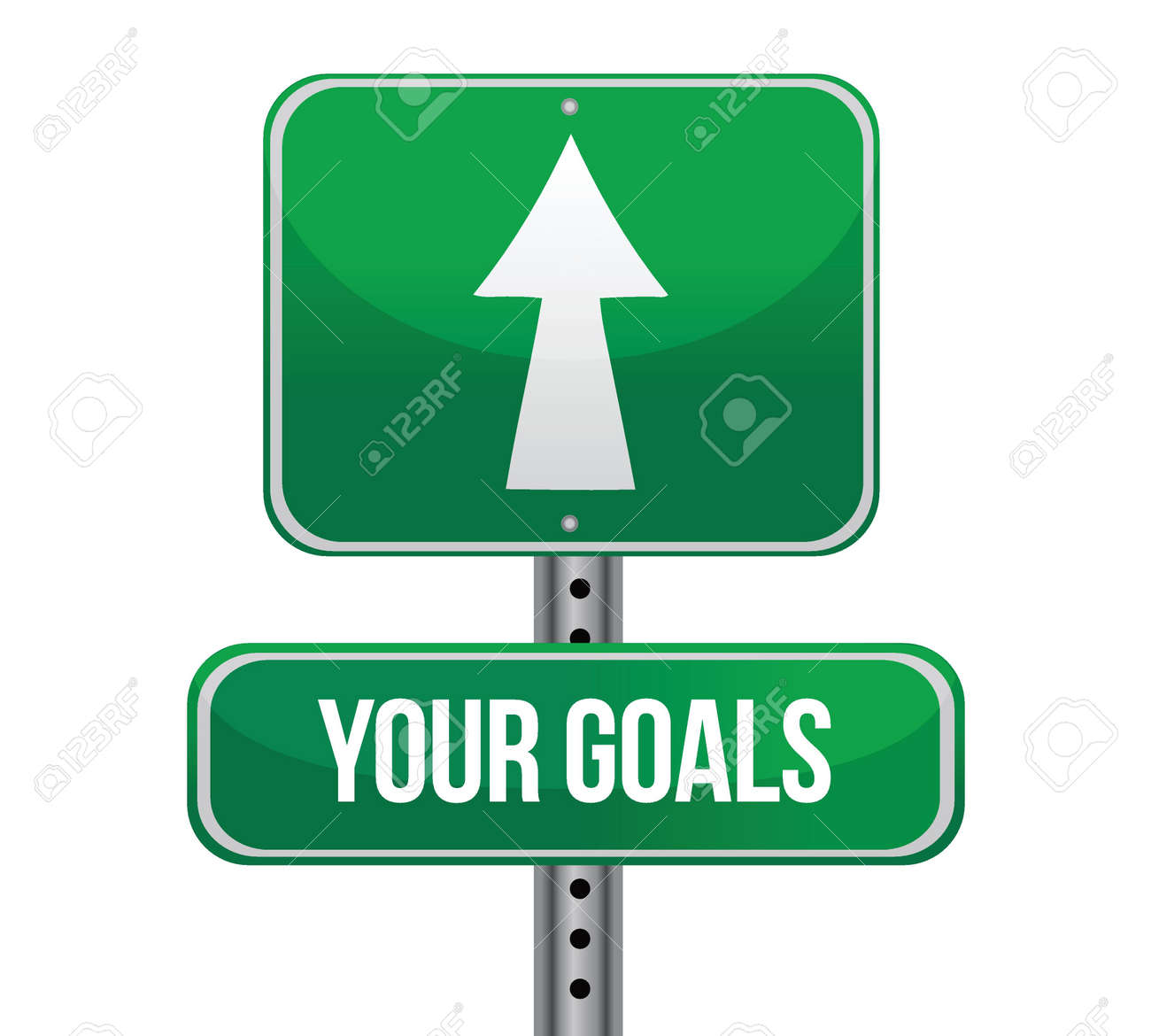 Your Goals Green Road Sign illustration design Stock Vector - 17124374