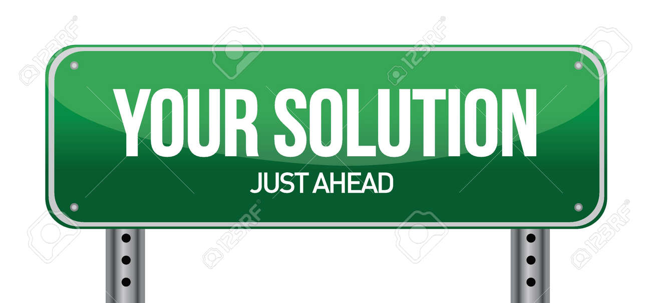 Your Solution Green Road Sign illustration design Stock Vector - 17124369