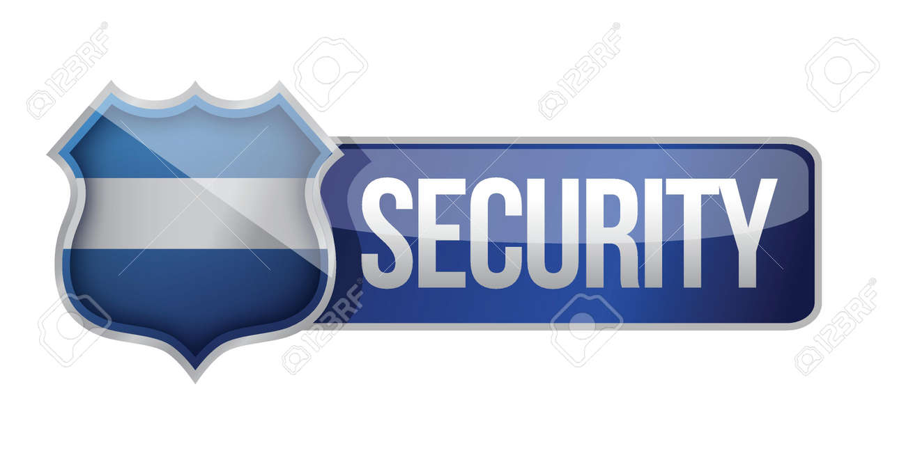 SECURE icon for web illustration design over white Stock Vector - 17153794