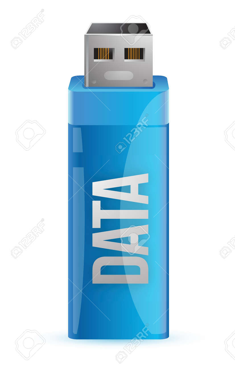 one usb key that contains data illustration graphic design Stock Vector - 17250290