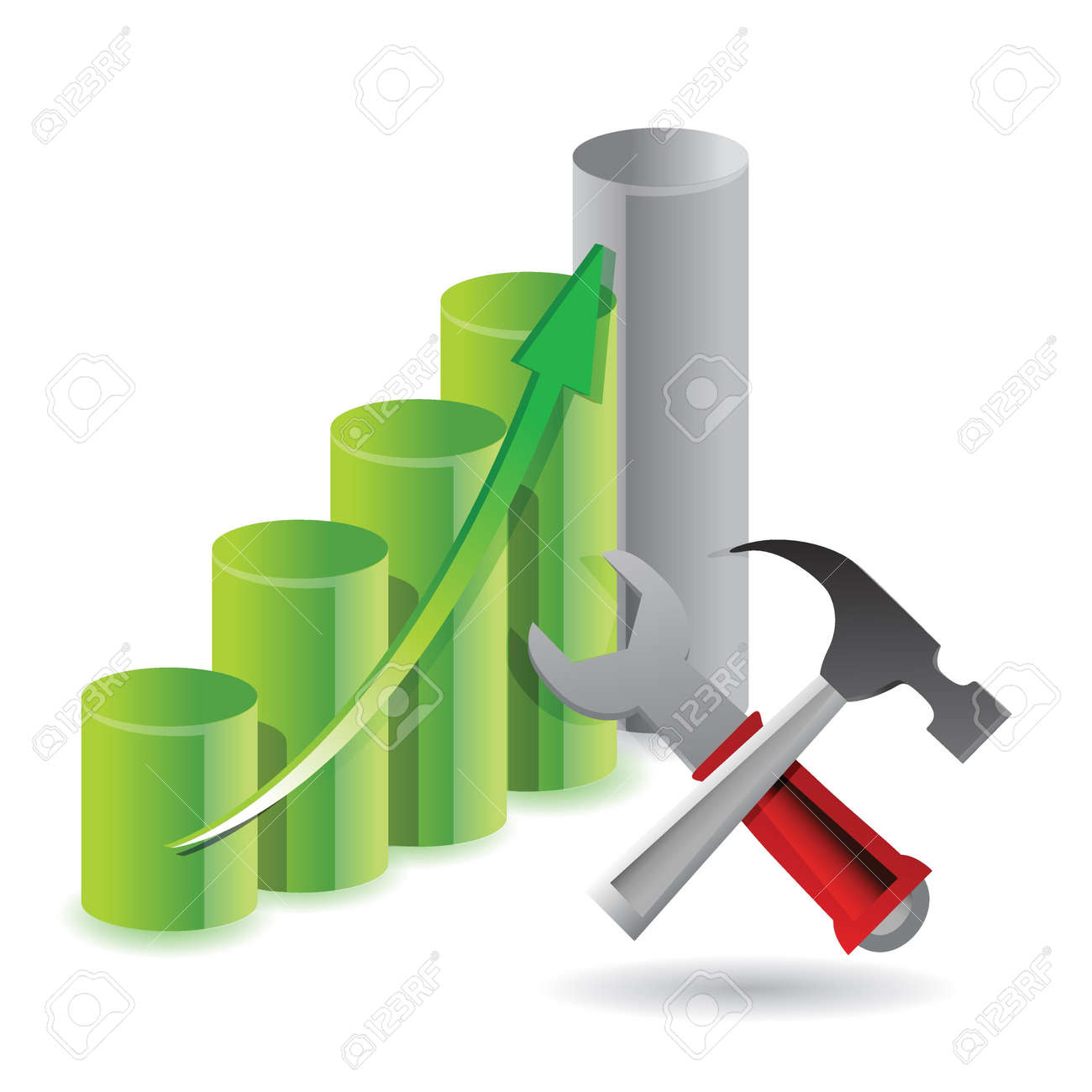 tools to success illustration design over white Stock Vector - 17250222