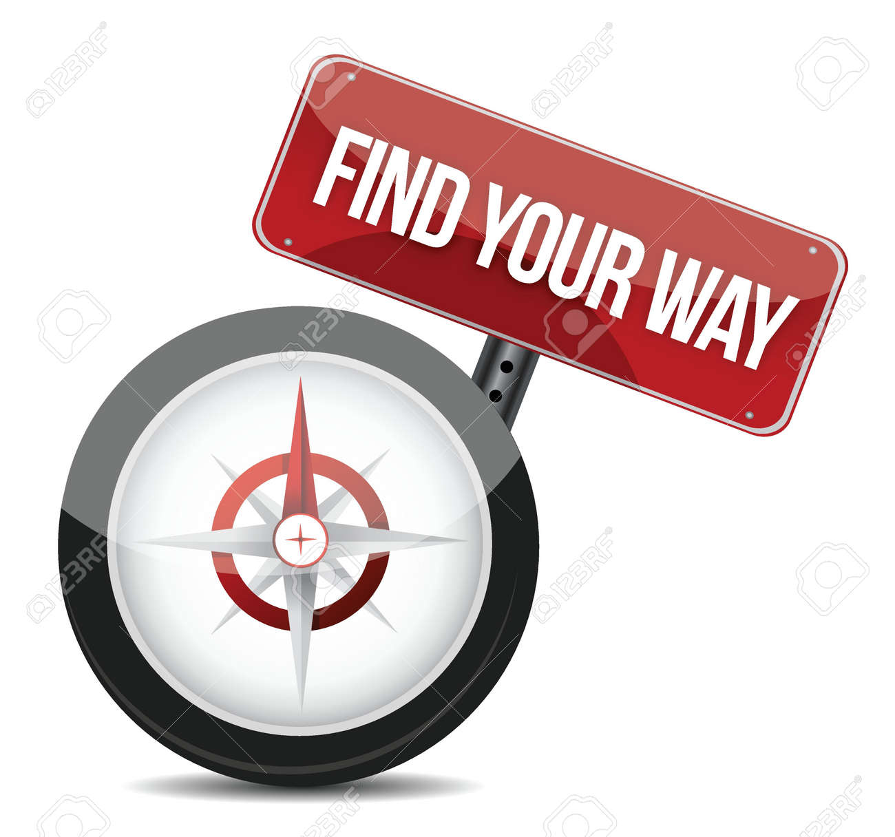 compass with the words Find Your Way illustration Stock Vector - 17250298