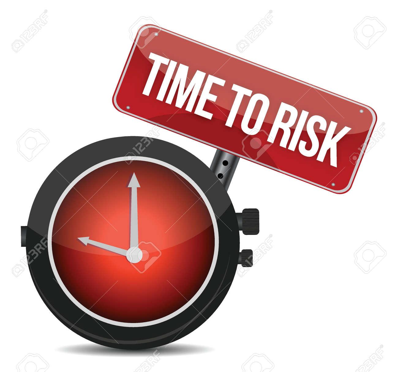 risk time concept clock illustration design over white Stock Vector - 17250293