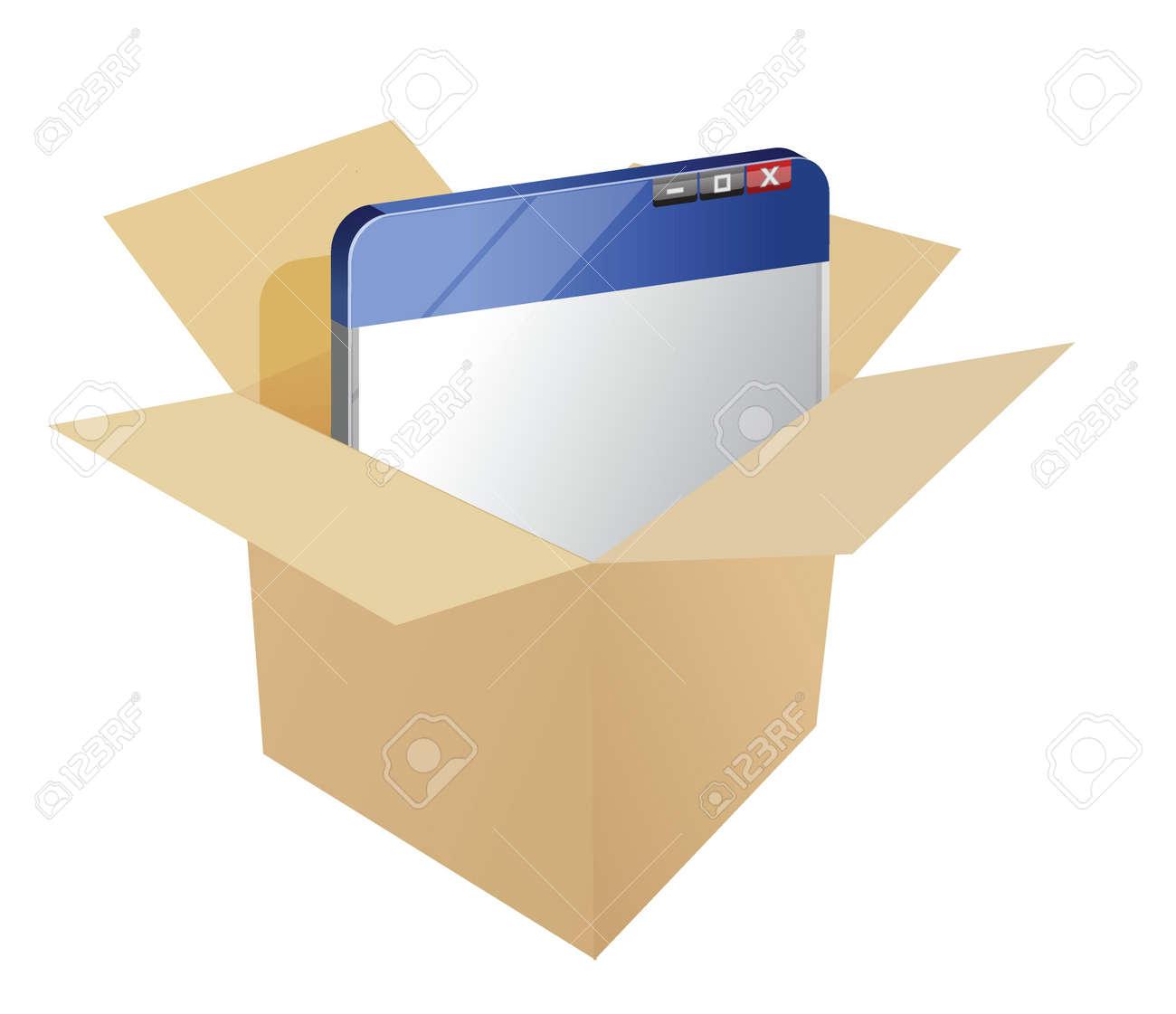 Pre-Packaged Website concept illustration design over white Stock Vector - 17283868