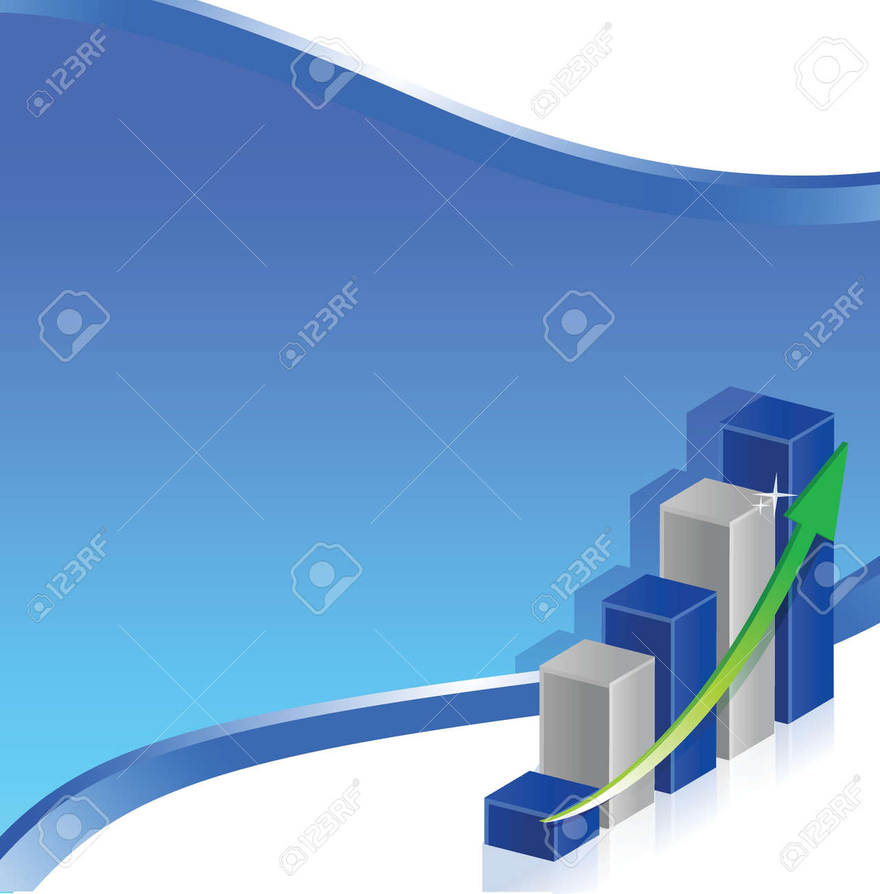blue business chart background illustration design graphic Stock Vector - 17539590