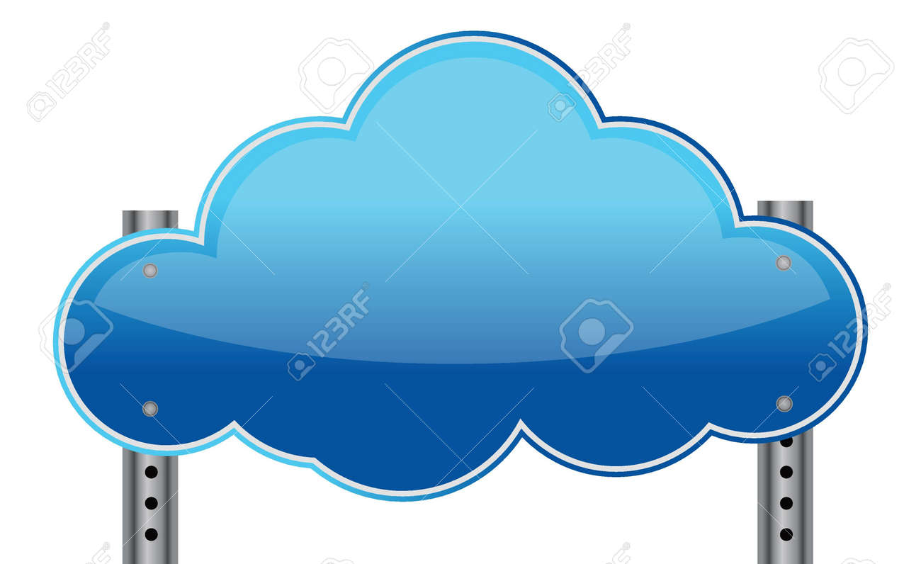 Cloud sign illustration design over a white background Stock Vector - 17539446